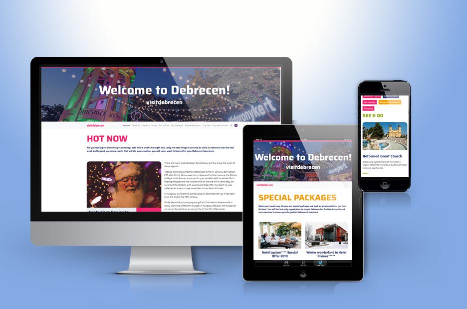visitdebrecen.com weboldal fejlesztése