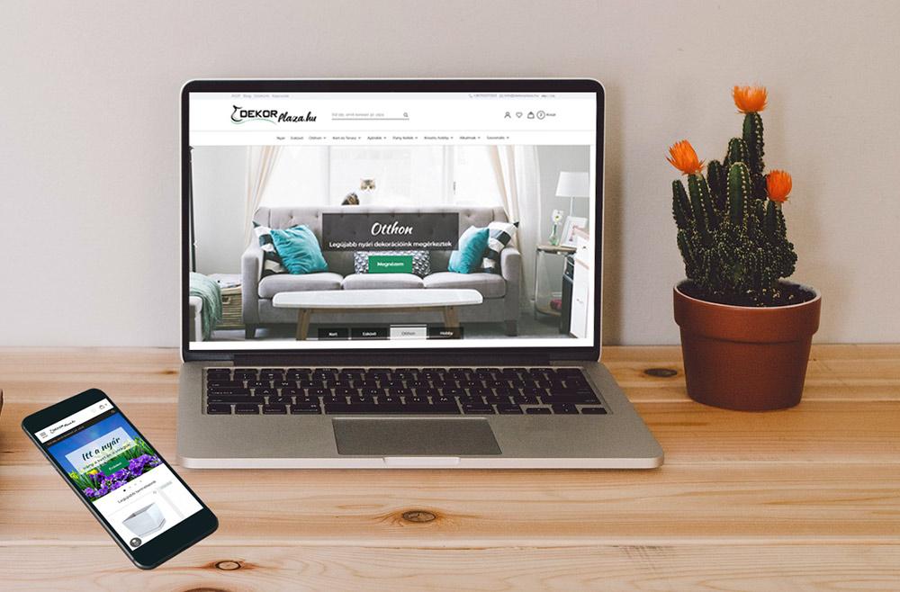 dekorplaza webáruház webdesign és webfejlesztés