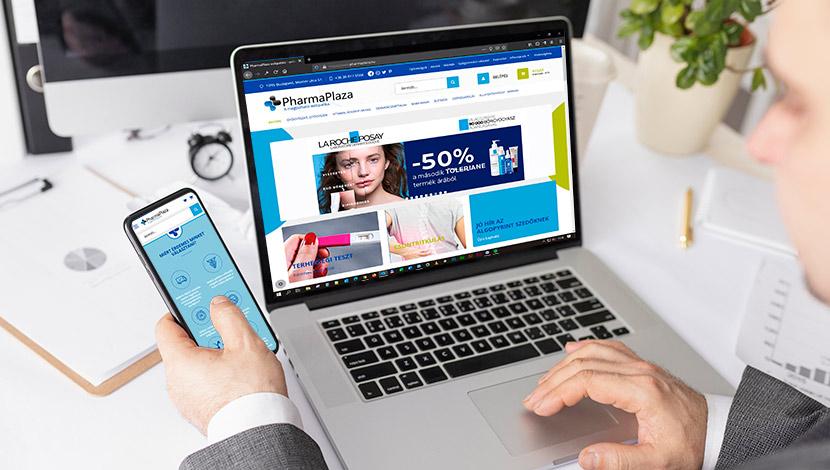 pharmaplaza webpatika webdesign és webfejlesztés - alfadesign