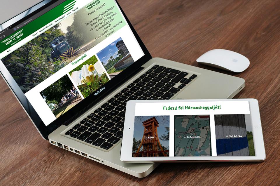 Zsuzsi Erdei Vasút webdesign és webfejlesztés